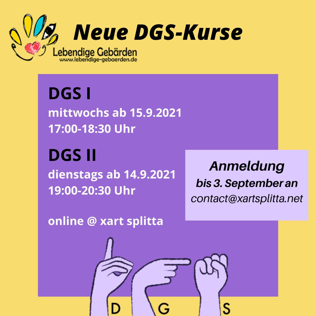 Info-Bild DGS-Kurse im Herbst